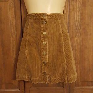 Corduroy Skirt Button Down
